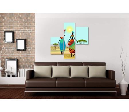 Две африканские девушки в саванне