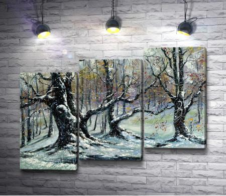 Зимние деревья в снегу