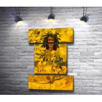 Портрет женщины с луком