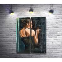 Портрет женщины с сигаретой
