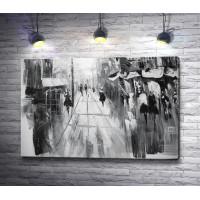 Прогулка по городу. Черно-белая картина