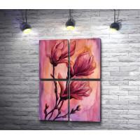 Веточка с весенними цветами