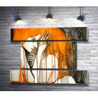 Обнаженная девушка с рыжими волосами