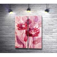 Два розовых цветка