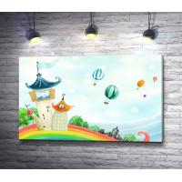 Маленькая сказочная страна и воздушные шары