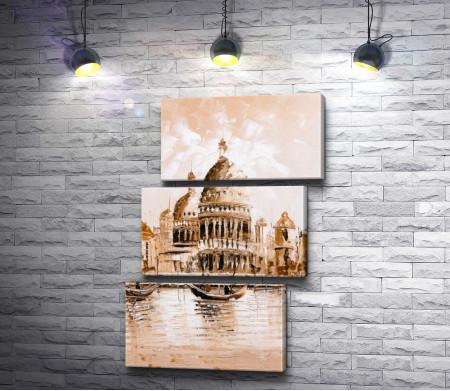Гондолы на Большом канале. Венеция, Италия