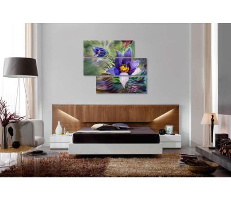 Распустившиеся фиолетовые цветы