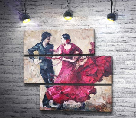 Танцоры. Испанское танго