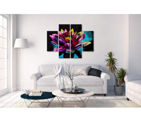 Ивайло Николов - Яркая водяная лилия на черном фоне