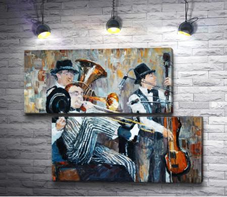Трио исполняет джаз