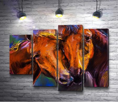 Две коричневые лошади