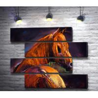Изящная лошадь коричневого цвета