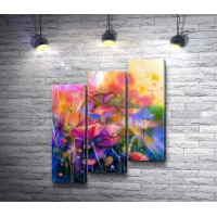 Весенние цветы в абстракции