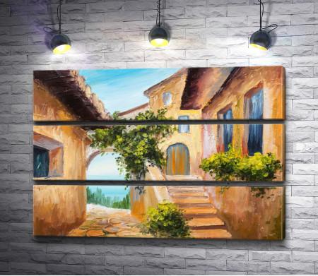 Итальянский дворик с видом на море