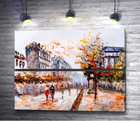Город в осенней листве
