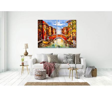 Живописный канал Венеции,  Италия