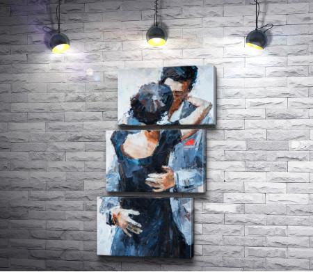 Мужчина и девушка в объятиях