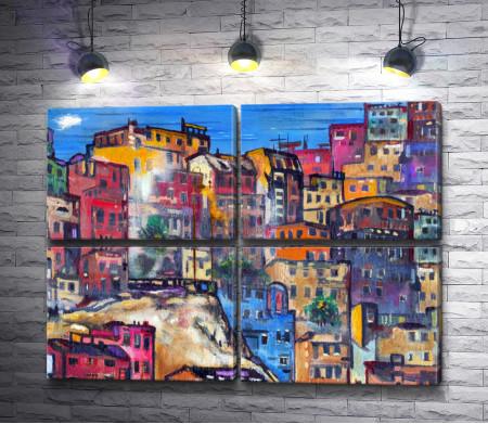 Город с разноцветными домами