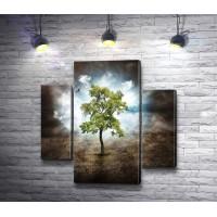 Одинокое дерево и птица