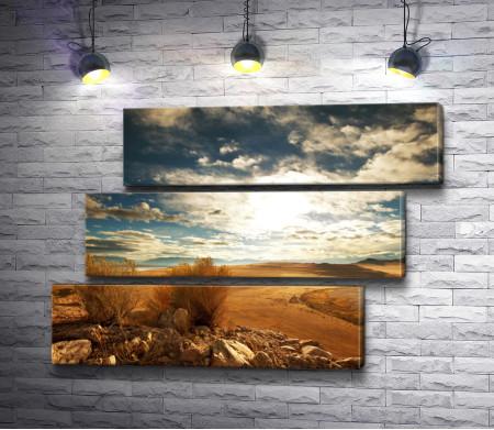 Пустыня и красивое небо
