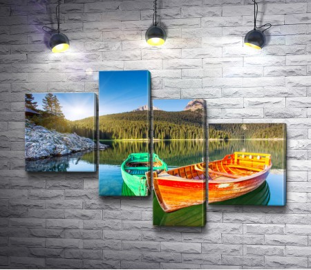 Яркие лодки
