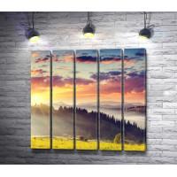 Гора и лучики солнца