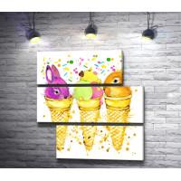 Зайчики и мороженое