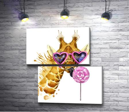 Жираф и лединец