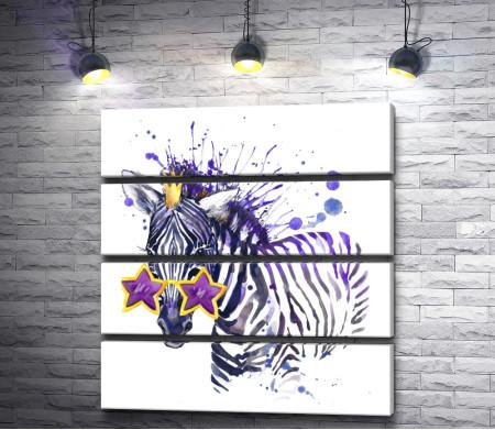 Зебра в стиле диско