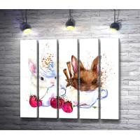 Два кролика с вишнями и корицей