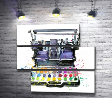 Печатная машинка с красками