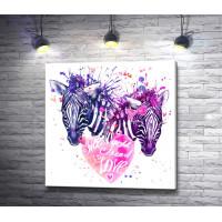 Две зебры и сердце