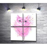 Розовый котенок