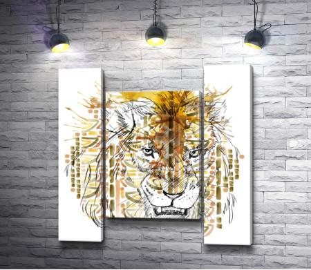 Суровый лев