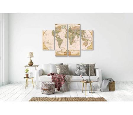 Географическая карта мира от National Geographic