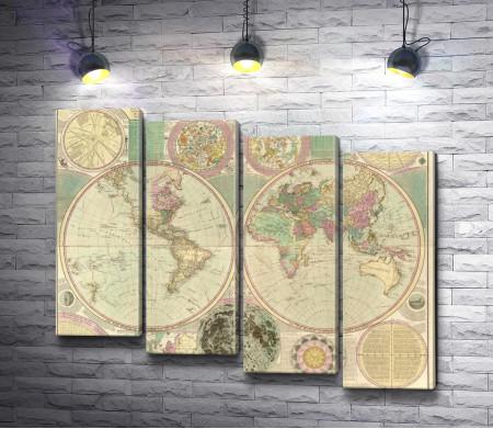 Карта мира от Carington Bowles (около 1780)