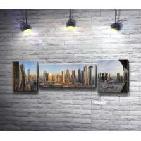 Панорама города Дубаи, небоскребы