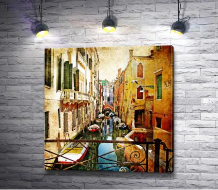 Итальянский дворик в Венеции. Винтаж