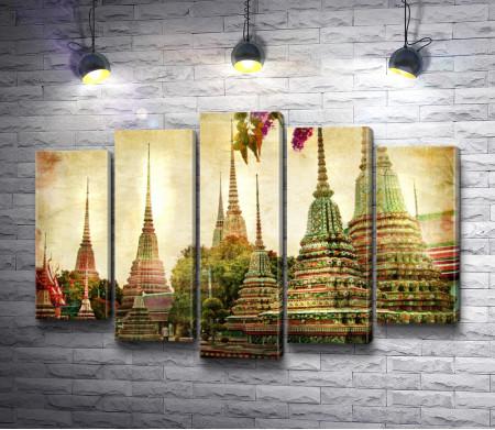 Вид на Бангкок, Таиланд, ретро-съемка