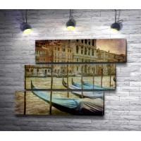 Гондолы на причале, Венеция