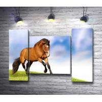 Грациозная лошадь на лугу