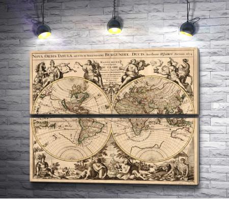 Карта мира 17 века