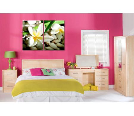 Белые орхидеи на мелкой гальке