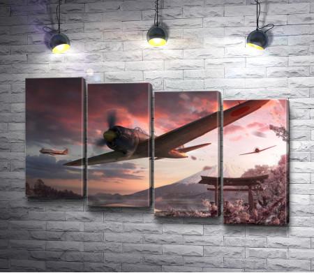 Боевые самолеты в небе