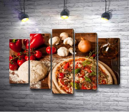 Пицца и ингредиенты к ней