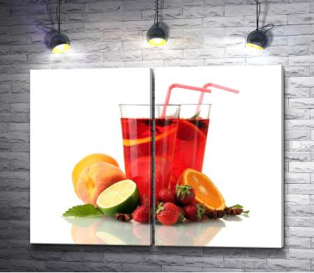 Летний фруктовый лимонад