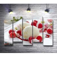 Мороженое с малиной