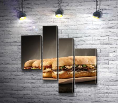Горячие и ароматные сэндвичи