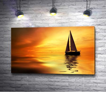 Яхта на желтых просторах
