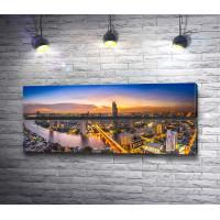 Панорама вечернего города, Таиланд
